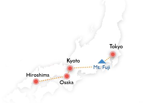 Exploring japans iconic destinations jnto or go further with a trip to hiroshima the city of peace and the jewel of hiroshima bay world heritage site miyajima island japan map gumiabroncs Choice Image